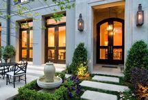 Home facades and outdoor