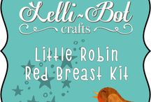 Little Robin Red Breast / This is one of the 2015 Lelli-Bot Crafts Christmas Kits