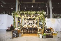 rustic wedding fair booth