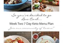 Keto and Atkins Meal Plans for Weight Loss / Free 7 Day menu plans with recipes, shopping, and prep lists that are suitable for keto, atkins and low carb diets.  Lose weight the fast and easy way with my weekly plans, and join our community of losers!   #ketorecipes #atkinsrecipes #lowcarbrecipes  / by I Breathe I'm Hungry