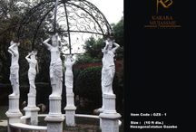 Classical Gazebos / Free standing or attached, Gazebos add a sense of space appreciation to a garden, park or spacious landscapes. With their ornamental aesthetics and depiction of various civilizations' arts, these are breathtaking to see & a pride to own.