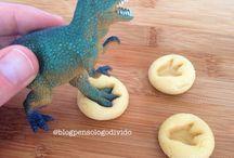 Festa com tema de dinossauro