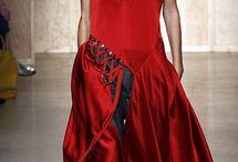 Красный с черным / Красиво носить такое сочетание в духе 80-х под силу только настоящим роковым женщинам.