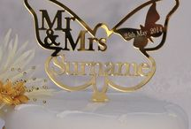 Personalised Wedding Cake Toppers / Wedding cake toppers created just for you