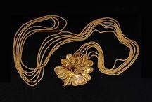 Greek jewelry Silver and gold / Greek jewelry - Greek gold earrings - Greek bracelet - Hellenistic jewelry silver necklace