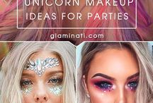 Unicorn and Mermaid makeup