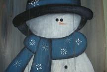 Snowman..Wood / by Judy Sawmiller