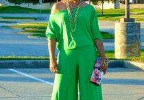 Green off shoulder jumper! / Easy breezy summer girl