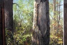 Måla detaljer på träd