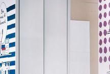 La salle de bains / Les créations de Valérie Nylin pour une salle de bain joyeuse et colorée
