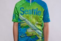Kids Seattle Cycling Jerseys - Girls and Boys / Premium quality kids Seattle-themed cycling jerseys with hidden front zip and rear pockets just like mom's and dad's jerseys.