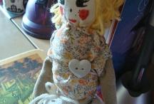 My dolls / Mes poupées en tissus réalisées entièrement à la main ///  Handmade cloth dolls. En vente sur DaWanda /// Sale on my shop: http://fr.dawanda.com/shop/alias-ze-shop/1324389-Poupees-en-tissus?#shop_products
