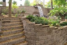 Sloping Yard Solutions / Ways to solve a hilly yard. Project ideas for areas with uneven ground