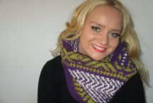 Circle Scarf hande knitted
