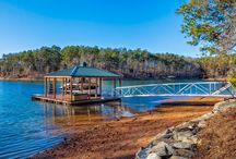 The Dockside Model / A quaint, custom home built overlooking Lake Keowee in The Cliffs at Keowee Springs.