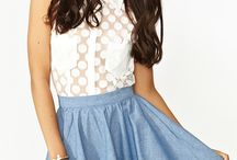 outfits with skater skirts