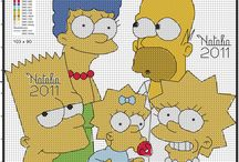 HAMA og broderi mm. The  Simpson