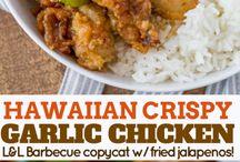 Crispy Garlic Chicken .