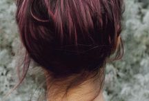 Hairstyle  / Plum highlights OMG!!!I so wanna get this done one day  / by Asra Tahir