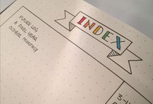 Bullet Journal - Index