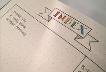 Bullet Journal - Index
