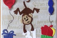 Kaarten met creatable aapje