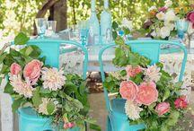 Tiffany, Mint & Teal blue