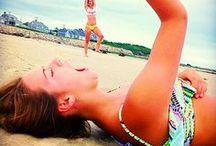 Funny beach pose