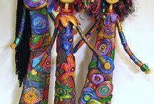 κούκλες με πηλό και σύρμα
