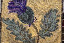 Rug hooking- floral