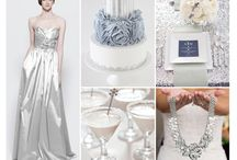 White and silver wedding colors