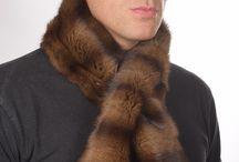 Sciarpe in pelliccia naturale per uomo / La piu' alta selezione di sciarpe per uomo in vera pelliccia naturale