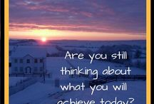 INSPIRATIONAL PINS Are you still thinking about what you will achieve today?
