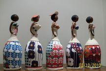 bonecas garrafas pet