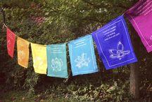 Backyard buddhist flag