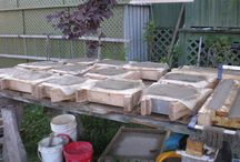 Make your own Concrete Cement Paver Stone Walkway Patio Wall / DIY Concrete Cement Paver Stone Walkway Patio Retaining Wall