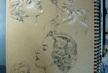 Human Drawing / 인체, 해부학 스케치 Human body, Anatomy Sketch