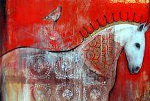 Acrylics-Textures/ Mixed media