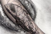 Татуировки с акулами