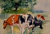 Рисование коров