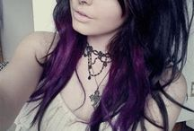 Hair  / Different types of coloured hair and trendy hair styles.