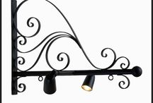 Lighted Sign Brackets / Sign Brackets with Lights for Illuminated Signage