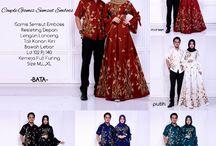 Baju Batik Couple Gamis Syari