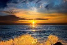 paesaggi mare sole e luna con le onde