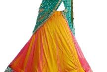 Ghagra sari