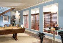 Window Treatments: Faux Wood Blinds