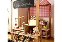 Kaufladen und Kinderküche