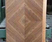 Pannelli placcati speciali per porte blindate / Pannelli con placcature realizzate su disegno del cliente a formare delle forme geometriche particolari