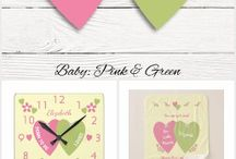 Nursery Decor Pink and Green