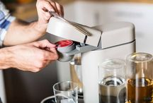 Invented A Machine That's Basically A Keurig / Finally!! Someone has created a pod based drink machine that works just like the popular Keurig coffee machines. Meet Bartesian, an awesome programmable counter-top cocktail machine that uses K-Cup-like capsules to create awesome drinks!